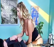 Hot August Ames seduces her boss Charles