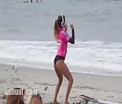 Una mora in spiaggia