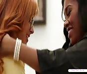 A sweet interracial lesbian sex