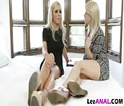 Tara And Nina Lesbian Blondes Strap On