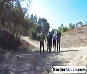 Slut gets fucked hard by border officer