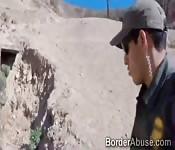 Teen fucks officer to cross the border