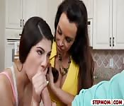 Lisa Ann and Ava Taylor shared a cock