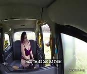 Chubby amateur fucks fake taxi driver