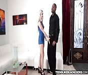 Blonde teen smashed at home by BBC