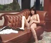 Bellezze asiatiche irsute si accarezzanop la figa pelosa