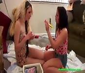 Amateur Lesbians Having Porn Shoot