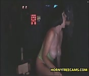 Glory Hole BJ And Pussy Creampie For Busty Milf