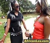 African girls wilding in the restroom