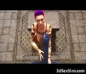 3D Girl Demolished by Monstrous Minothaur!