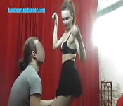 Cute TEEN does hot lapdance show