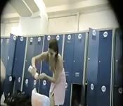 amateur cuties spied in locker room