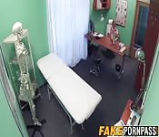 Fake blonde doctor babe railed hard