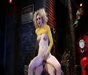 Lily LaBeau baisée dans une ruelle sombre