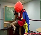 Hot Girl Fucks Clown at School