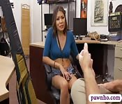 Sexy babe drilled by nasty pawn keeper