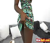 ebony babe fucked by white guy