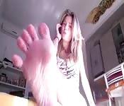 Zwei glückliche Füße