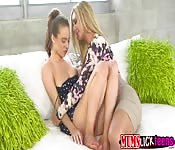 Anya playing with babe teen pussy