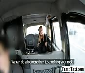 Blondie babe in stockings fucked in the cab