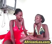 Wow two stunning oiled up black lesbians