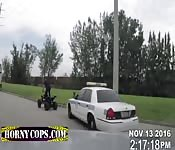 Cops get suspect to spread his legs