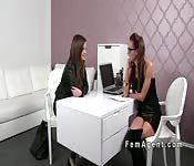 Female agent toys her old girlfriend