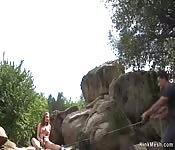 Natural big tits slave anal fucked