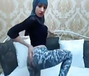 Una cam girl sexy con hijab