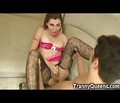 Hot Tranny Teen Fucked and Jizzed!