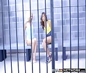 Hot prison threesome sex with teens