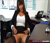 Horny mature boss banged by applicant