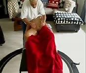 Un massage très érotique