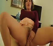 Caught jerking by dad's wife