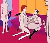 Una orgia gay bollente