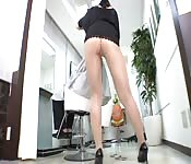 Japanese whore shows her naughty bits