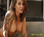 Bigtits tattoo girl live webcam masturbation show