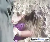 Outdoor fucking with nasty blonde