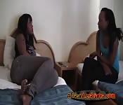 Big Tit Ebony Lesbians Have Some Fun!