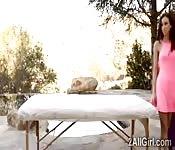 Horny MILF pays babysitter with massage