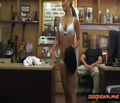 Sexy babe screwed by nasty pawn keeper