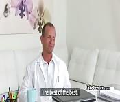 Black stockings agent fucks client