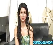 Brunette Teen Latina Shows Her Big Tits
