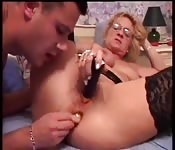 High-end sex toys make her randy