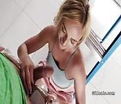 Nice butt blonde girlfriend anal fucks