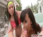 Lisa Ann and Casey Calvert nasty 3some