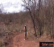 African teen riding sucking white cock