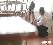 Asian babe Maria a school exhibitionist