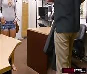 Mariah sweats hard by fucking a pawndudes dick