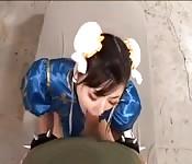 Asiática puta siendo follada